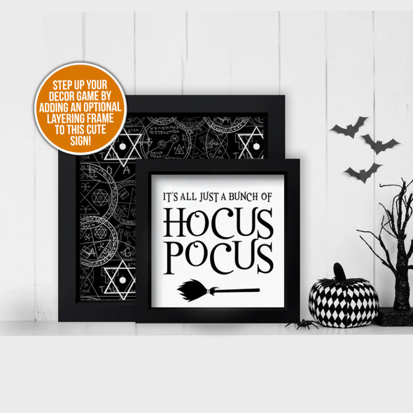 Halloween bunch of hocus pocus and mystical occult pentacles layering frames for multi display canvas signs