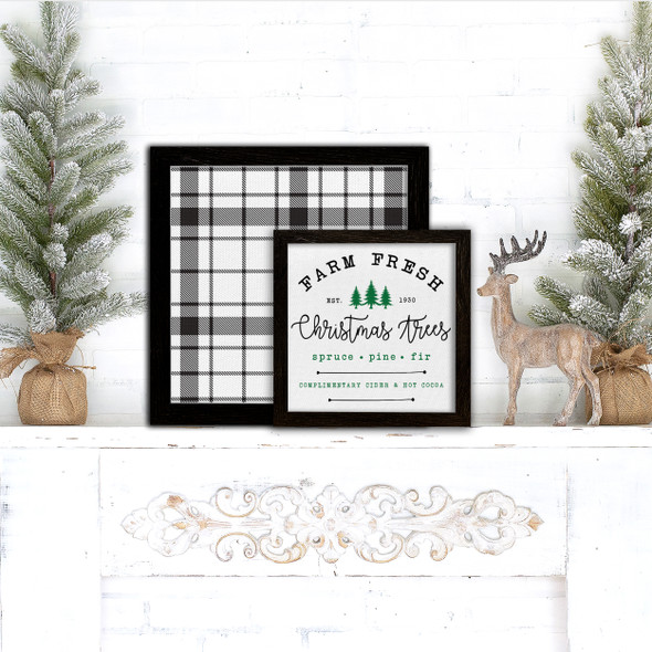 Farm fresh christmas trees holiday layering frames for multi display canvas signs