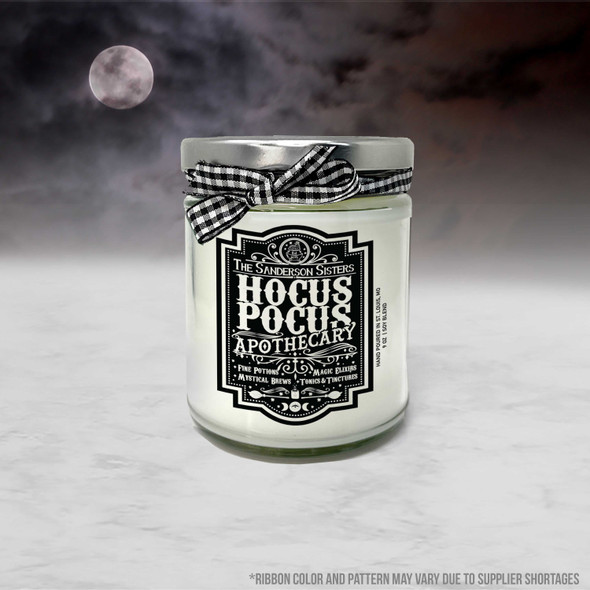 Halloween funny hocus pocus apothecary fine potions soy blend wax candle