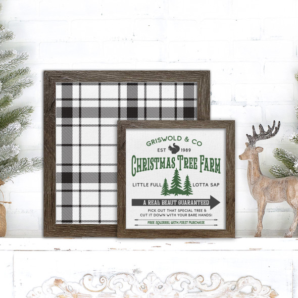 Griswold & Co christmas tree farm a real beaut holiday layering frames for multi display canvas signs