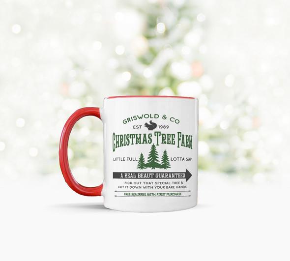 Griswold & Co christmas tree farm a real beaut tea coffee mug