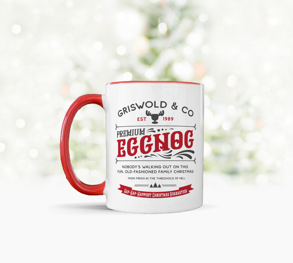 Griswold & Co premium eggnog hap hap happiest christmas tea coffee mug