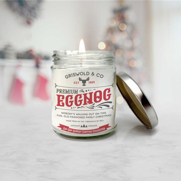 Griswold & Co premium eggnog hap hap happiest christmas soy blend wax candle