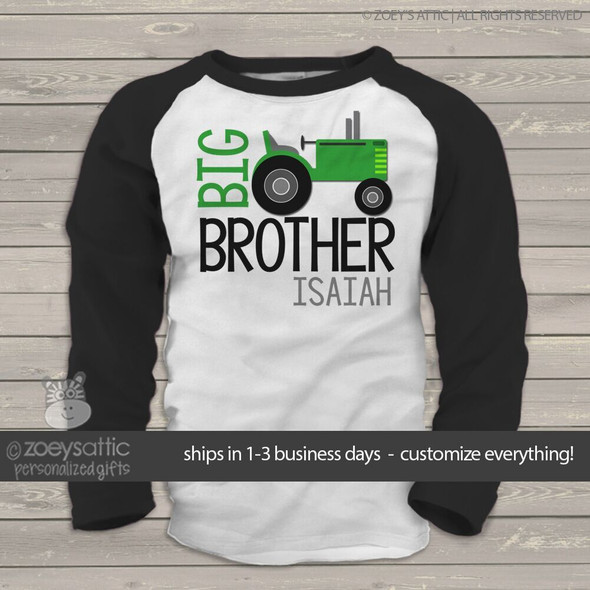 Big brother tractor raglan Tshirt