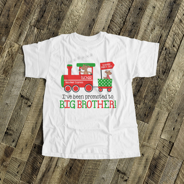 Christmas shirt big brother to be shirt reindeer express pregnancy announcement Tshirt