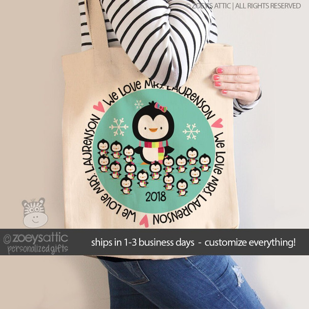 Teacher tote bag gift from students Christmas or anytime of year tote bag