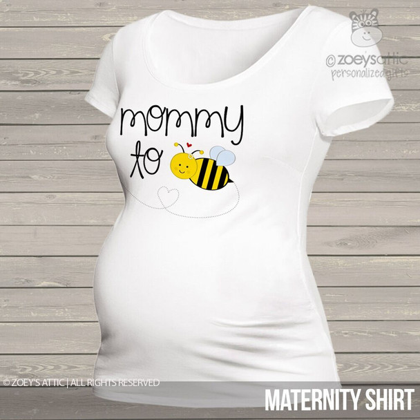 Mommy to bee womens non-maternity or maternity Tshirt