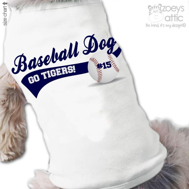 Dog shirt sports fan baseball or soccer personalized dog Tshirt