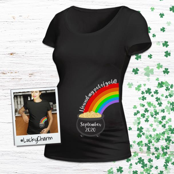 St. Patrick's Day maternity shirt my pot of gold custom womens non-maternity or maternity DARK Tshirt
