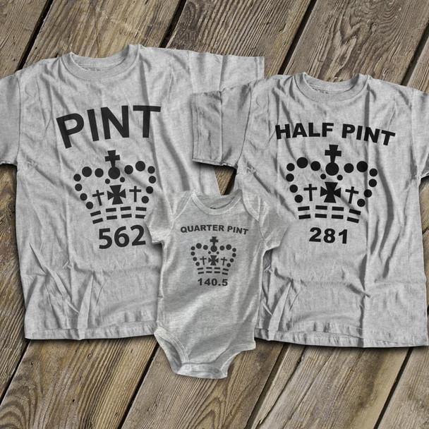 Pint size matching THREE shirt gift set
