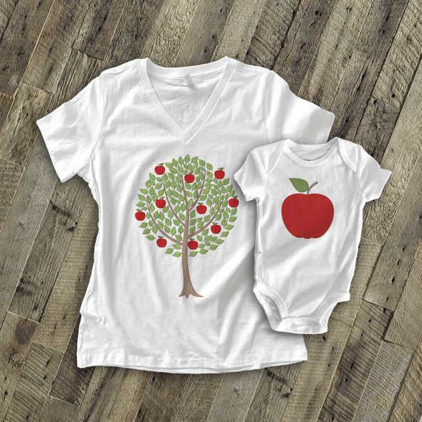 The apple doesn't fall far matching shirt gift set