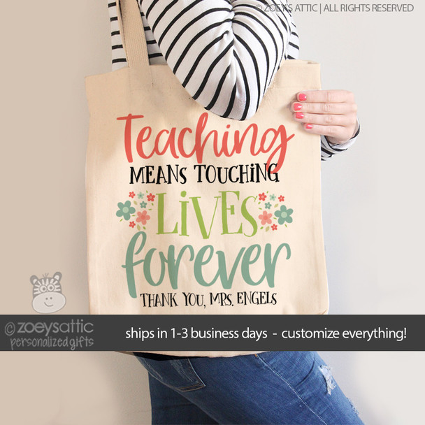 Teacher touch a life tote bag