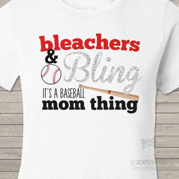 Baseball bling sparkly shirt