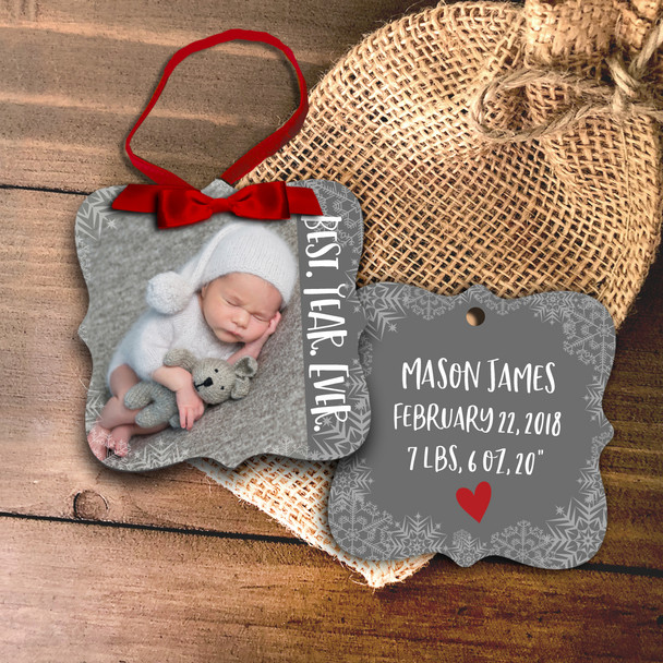 Photo ornament best.year.ever. birth statistics