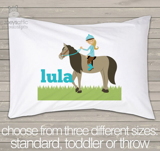 Horse girl personalized pillowcase / pillow