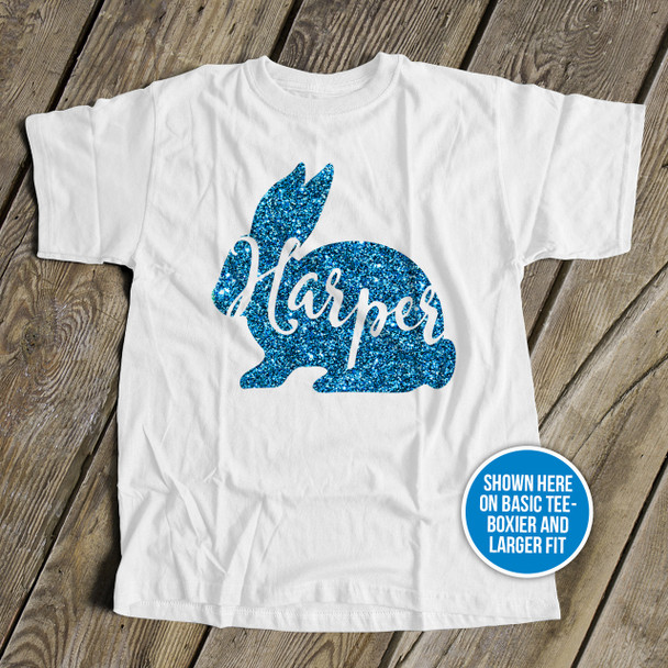 Glitter Easter Bunny personalized Tshirt