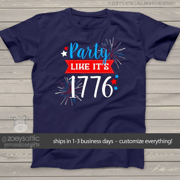 Funny party like it's 1776 unisex ADULT navy Tshirt