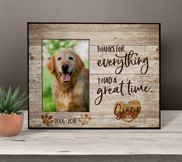 Pet memorial personalized photo frame