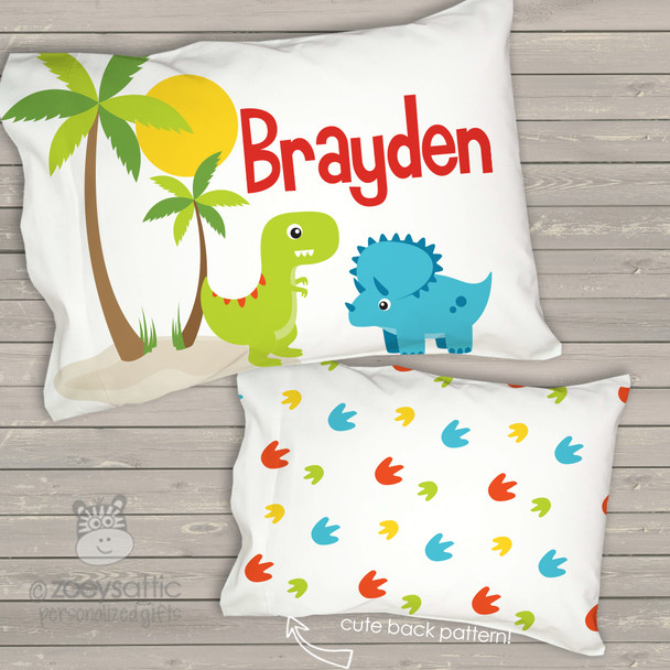 Toddler travel pillow personalized dinosaur