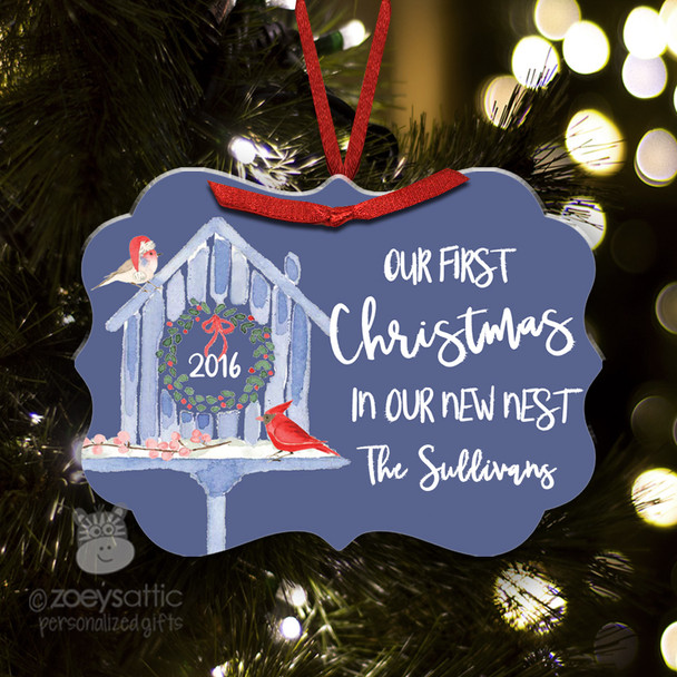 First Christmas new nest personalized ornament