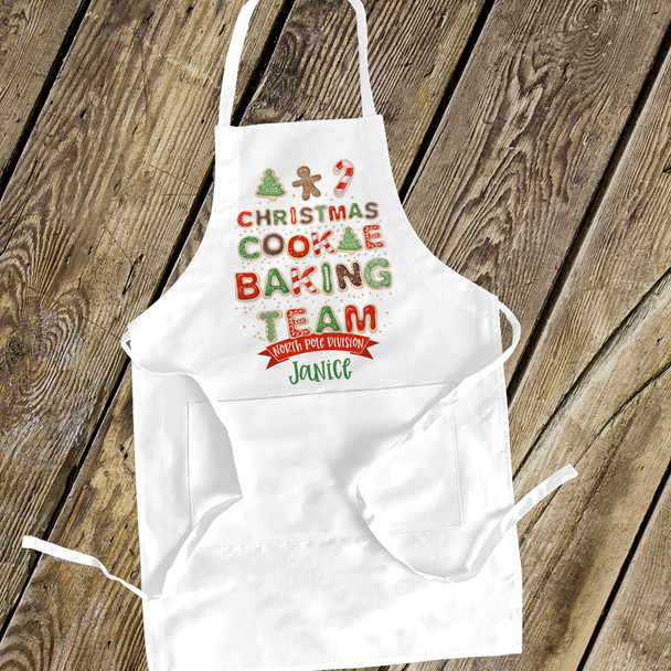 Holiday baking team adult apron