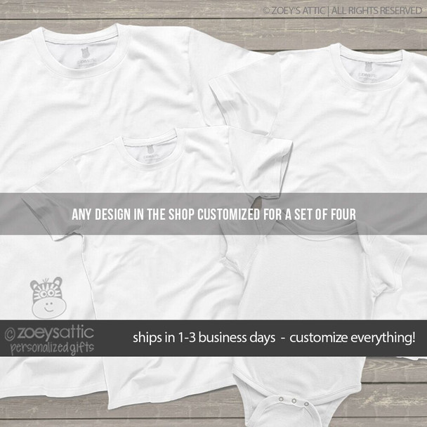 Set of FOUR siblings shirts you choose the design and customize everything