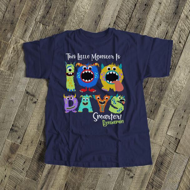 Student 100 days smarter monster DARK Tshirt