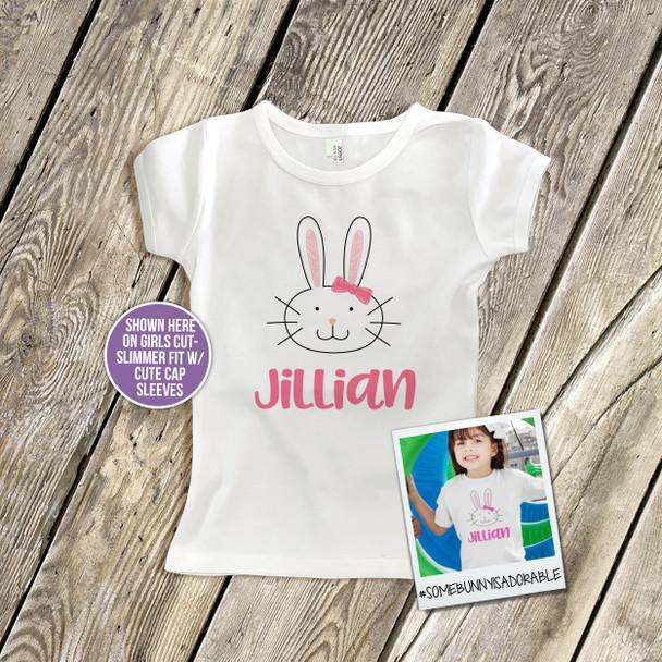 Easter shirt bunny head girl Tshirt