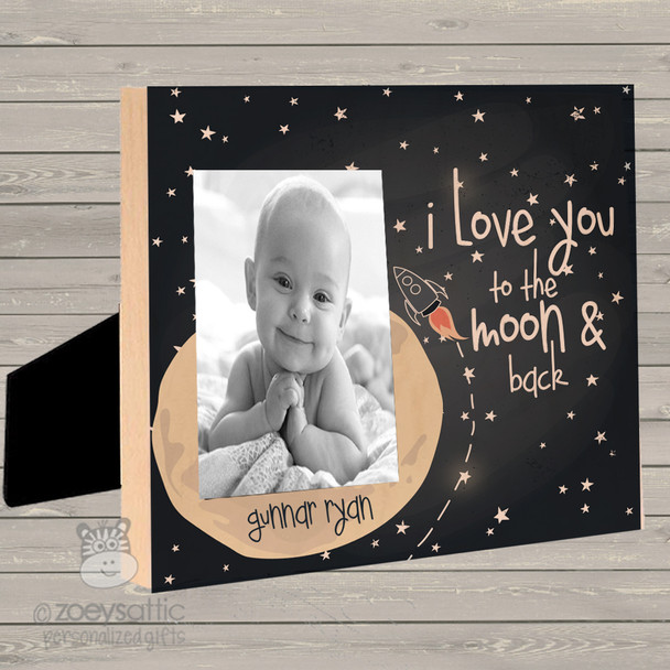 Love you to moon and back personalized photo frame