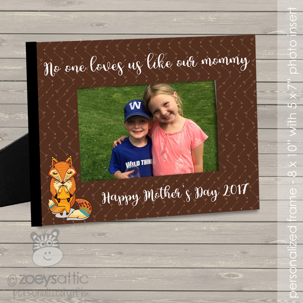 Mothers Day no one loves us like our mommy photo frame