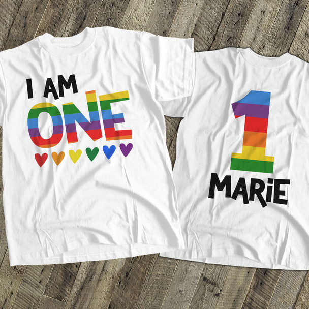 Birthday rainbow personalized Tshirt