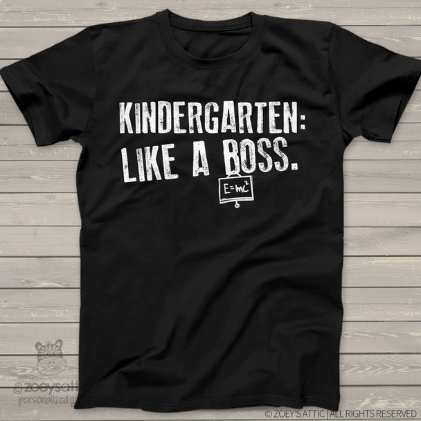 Kindergarten like a boss DARK Tshirt