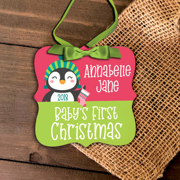 First Christmas baby penguin ornament