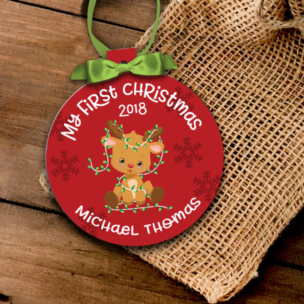 My first Christmas baby ornament