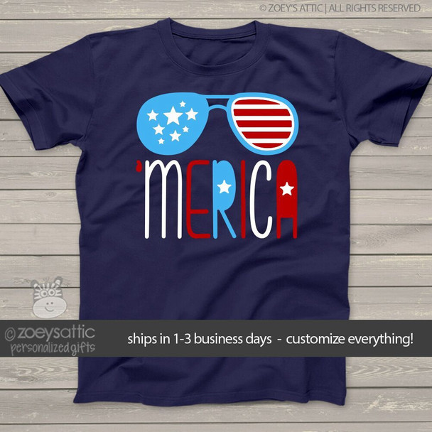 Stars and stripes 'merica  KIDS dark Tshirt