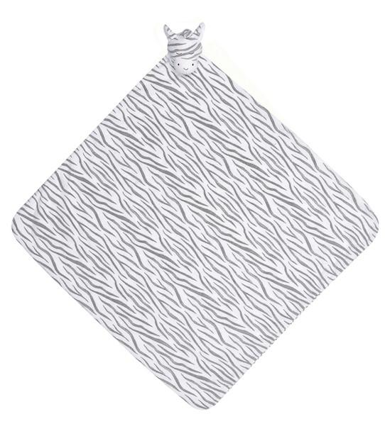 Dark Zebra Napping Blanket by Angel Dear