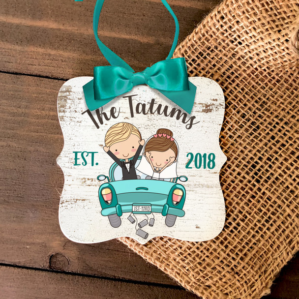 First Christmas just married ornament