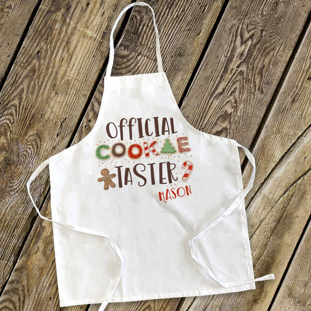 Official cookie taster holiday adult or youth apron