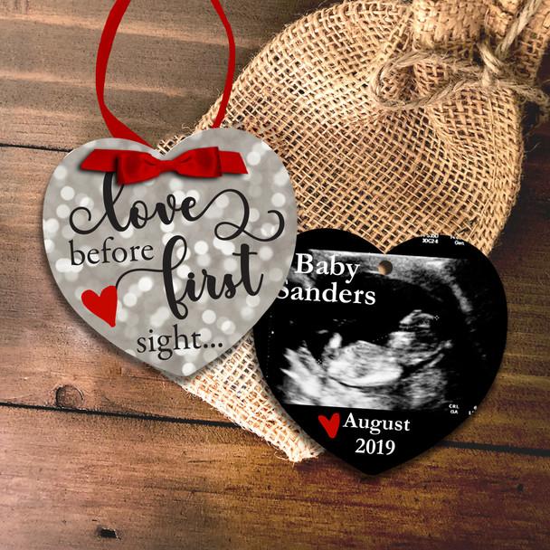 Ultrasound photo pregnancy announcement ornament