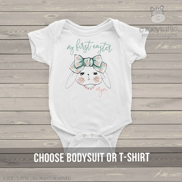 My First Easter boho bunny bodysuit or tshirt