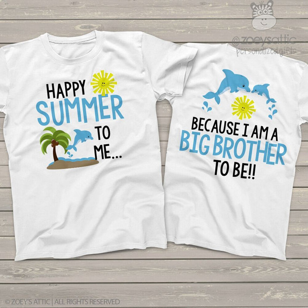 Big brother happy summer to me pregnancy announcement Tshirt