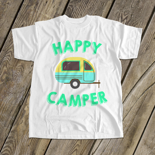 Happy camper kids camping vacation Tshirt