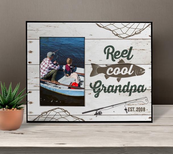 Reel cool grandpa photo frame