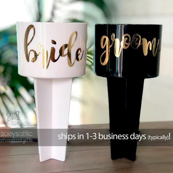 Bride and groom beach spiker set
