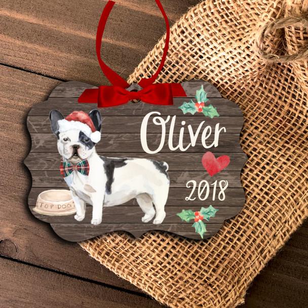 French bulldog personalized Christmas ornament