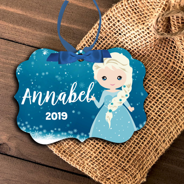 Girl ice snow princess personalized ornament