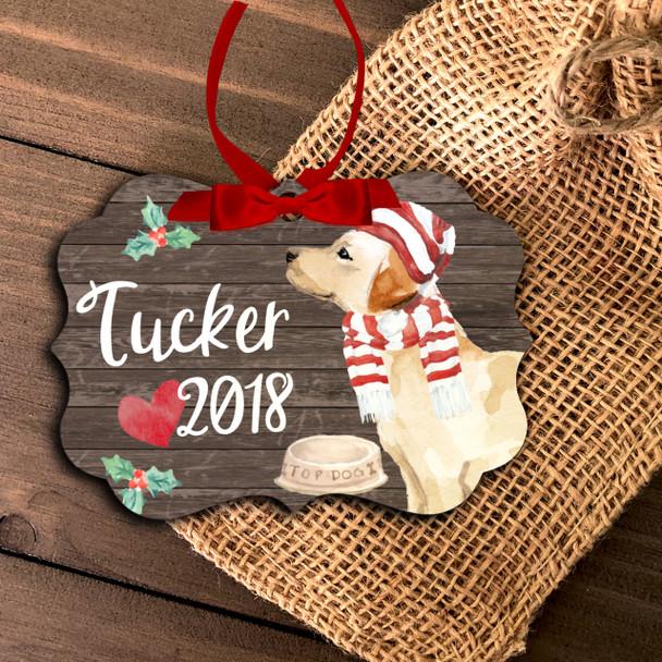 Labrador retriever personalized Christmas ornament