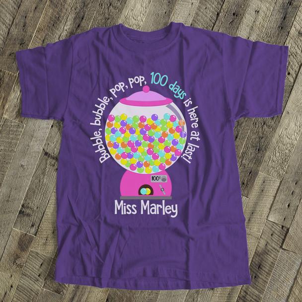 Teacher 100 days bubble gum DARK Tshirt
