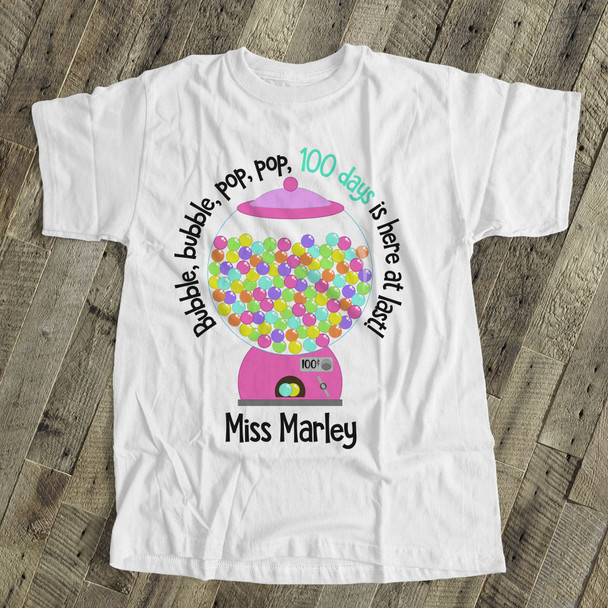 Teacher 100 days bubble gum Tshirt