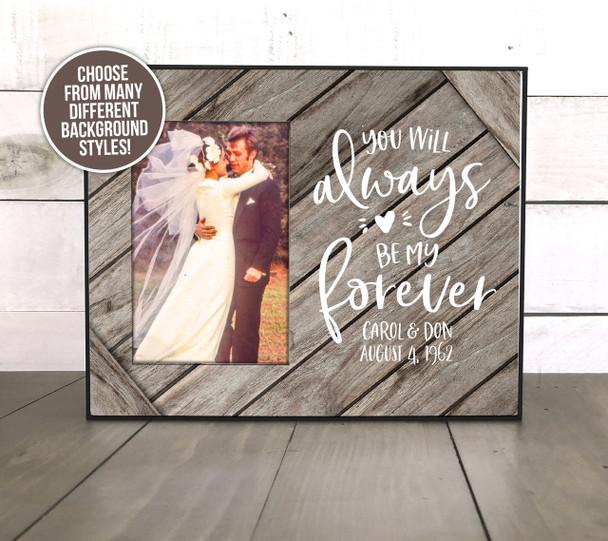 Wedding anniversary milestone couples gift personalized photo frame